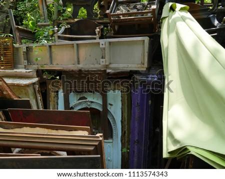 Junkyard scrap fireplaces #1113574343