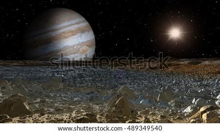 Shutterstock jupiter and moon europa