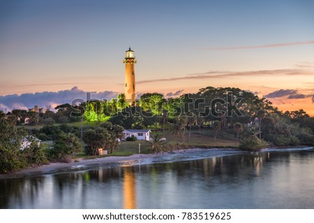 Jupiter, Florida, USA at Jupiter Inlet Light.