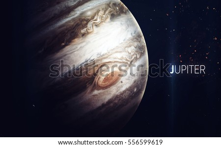 Jupiter - High resolution beautiful art presents planet of the solar system. This image elements furnished by NASA #556599619