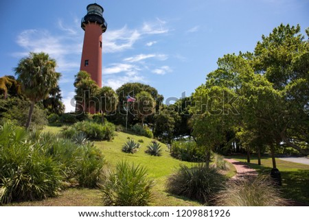 Jupiter Inlet Lighthouse in Jupiter, Florida, United States
