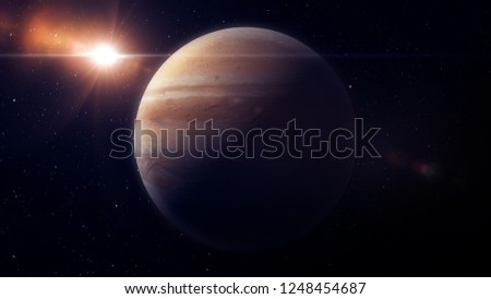Jupiter planet 3d render for background