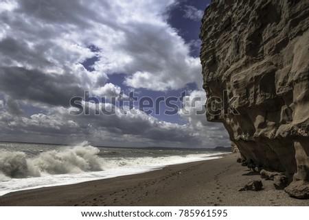 Jurassic Coastline midday sky #785961595