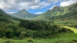 Jurassic Park Landscape on Oahu