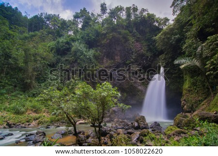 Jurug Kyai Kate at Bruno,  Indonesia, Waterfalls, Waterfalls in Tropical Forest #1058022620