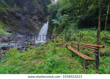 Jurug Kyai Kate at Bruno,  Indonesia, Waterfalls, Waterfalls in Tropical Forest #1058022623