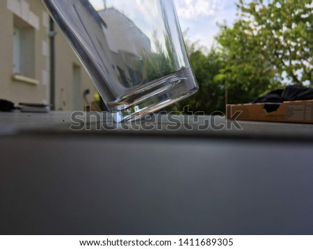 Just a glass in perfect balance