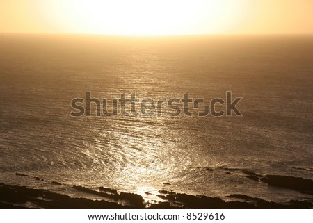 Just before sunset along the atlantic coast in South America