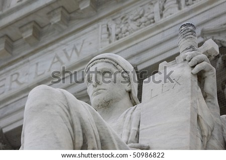 Justice in front of Law - stock photo