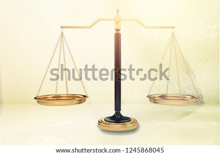 Justice or law scales