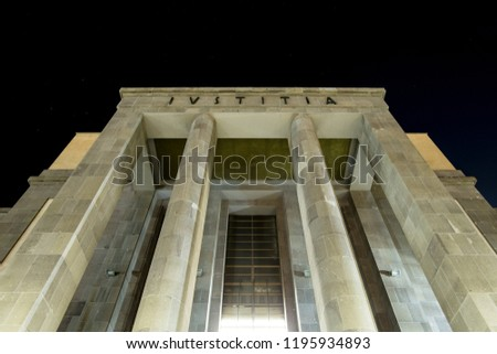 Justice Palace in Cagliari, Sardinia, Italy. Built in 1938.