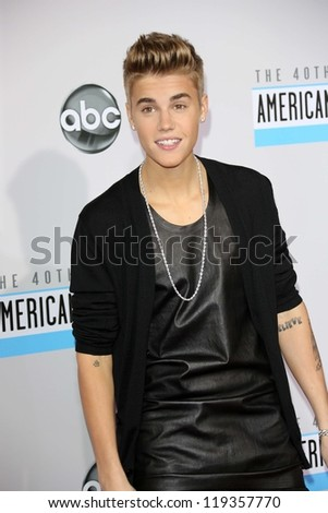 Justin Bieber at the 40th American Music Awards Arrivals, Nokia Theatre, Los Angeles, CA 11-18-12