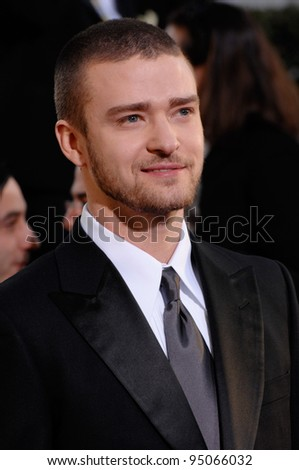 JUSTIN TIMBERLAKE at the 64th Annual Golden Globe Awards at the Beverly Hilton Hotel. January 15, 2007 Beverly Hills, CA Picture: Paul Smith / Featureflash