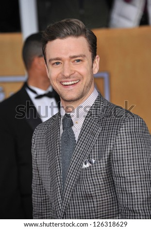 Justin Timberlake at the 19th Annual Screen Actors Guild Awards at the Shrine Auditorium, Los Angeles. January 27, 2013  Los Angeles, CA Picture: Paul Smith