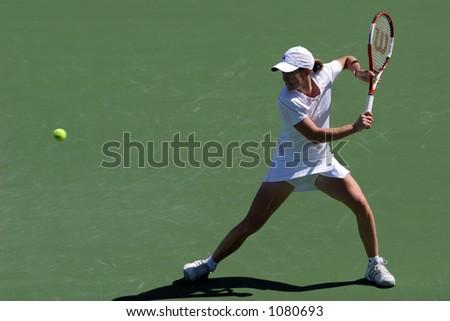 Justine Henin-Hardenne at Pacific Life Open