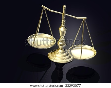 Justitia's scales as symbol of the law