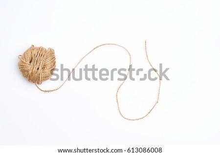 Jute Ropes isolated on white background                 Stockfoto ©
