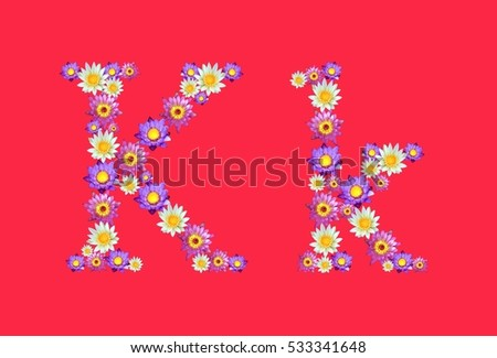 Free photos flower letter k avopix k alphabets set lotus flowers font isolated on red background 533341648 mightylinksfo