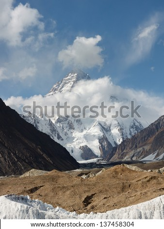 K2, the second highest mountain in the world, in the Karakorum Range, Pakistan