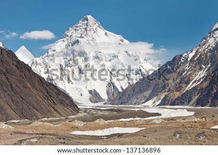 K2, the second highest mountain in the world. Karakorum Range, Pakistan