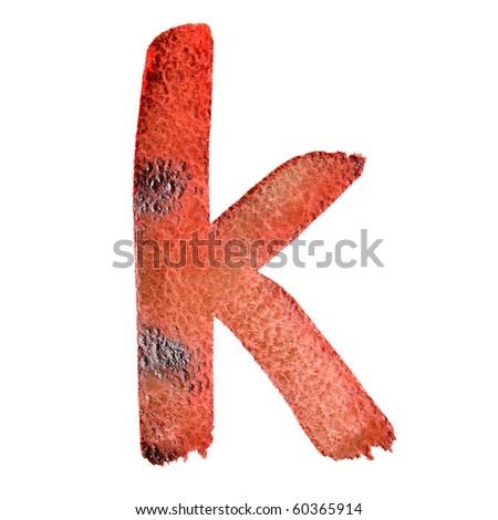 K - Watercolor letters (Lower case)