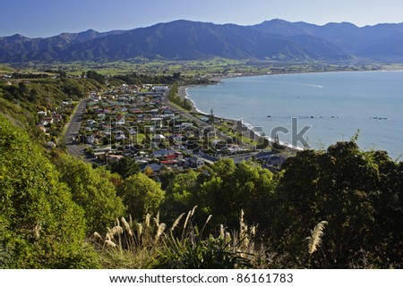 Kaikoura on the South island of New Zealand Australasia