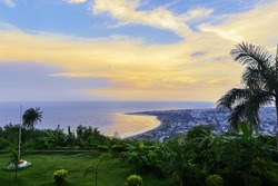 Kailasagiri is a hilltop park in the city of Vizakhapatnam. It is covered with flora and tropical trees and the hill at 360 feet overlooks beaches, forests and the city of Vizag
