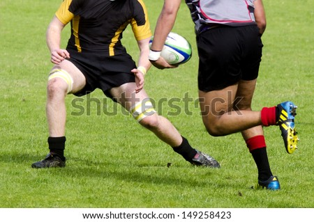 KAITAIA, NZ - AUG 03: People plays Rugby on Aug 03 2013.Rugby union is the unofficial national sport of NZ. The national team, the All Blacks, rank as the top international team in the world.