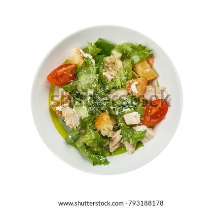 Kale Caesar Salad , salad garlicky greek yogurt  with the croutons and shaved Parmesan. #793188178
