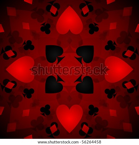Kaleidoscope card background - raster