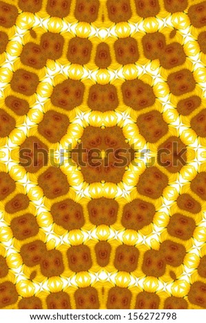 Kaleidoscope Lightbrown YellowRings