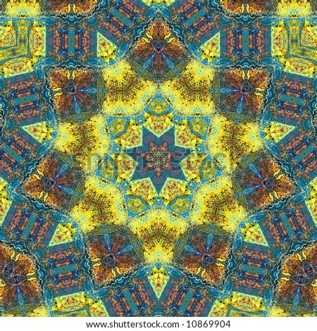 Kaleidoscope made with various colors from autumn