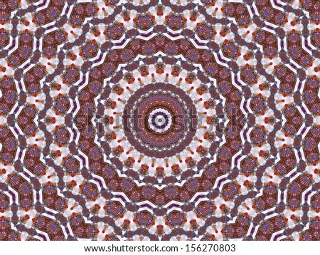 Kaleidoscope Red Brown Star