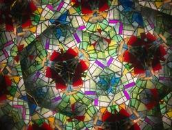 Kaleidoscope shining in beautiful colors