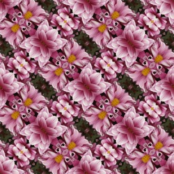 Kaleidoscopic floral seamless generated texture
