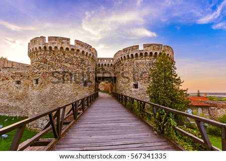 Kalemegdan fortress Beograd - Serbia - architecture travel background - Shutterstock ID 567341335