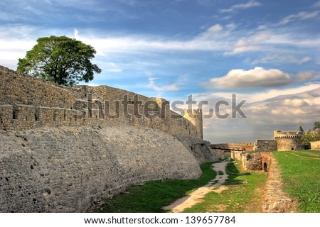 Kalemegdan fortress in Belgrade, Serbia - stock photo