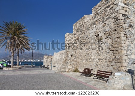 Kales fortress at Ierapetra city of Crete island in Greece