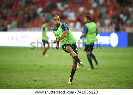 Kallang-SINGAPORE-27jul,2017:Joao mario[b] Player of FC internazionale in action during icc 2017 between bayern munich and FC internazionale at national stadium,singapore