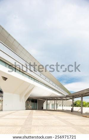 Kallang,Singapore-July 1,2014:Singapore Indoor stadium exterior.The Singapore Indoor Stadium is an indoor sports arena, located in Kallang, Singapore.