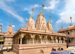 Kalupur Swaminarayan Mandir, a hindu temple in the old city of Ahmedabad - Gujarat State of India