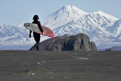 Kamchatka surfing life