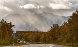 Kamchatka, the federal road to the north of the peninsula