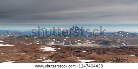 Kamchatka the land of volcanoes, view from volcano Gorely