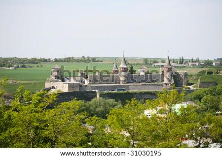 Kamenets-Podolsky Castle, build in the 12-13th centuries
