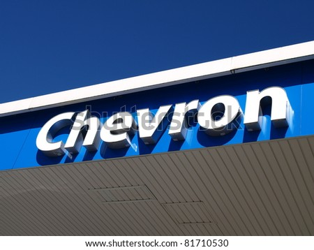 KAMLOOPS, CANADA - JULY 24: Gas station sign of Chevron Corporation on July 24, 2011 in Kamloops, Canada. Chevron Corporation is one of the world's leading energy companies.