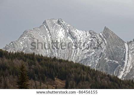 Kananaskis Country with Mist Mountains, Alberta