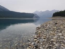 Kananaskis County Alberta Canada Mountain landscape mountain lake shoreline