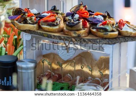 Kanape with vegetables Stock fotó ©
