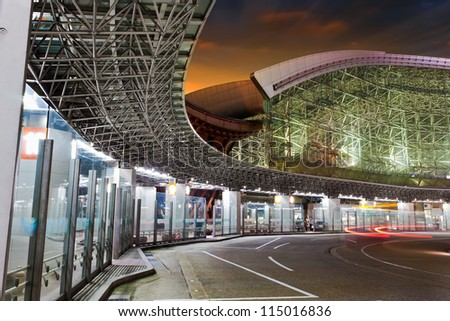KANAZAWA, JAPAN - MARCH 27: Kanawaza bus terminal in Kanazawa, Japan on March 27, 2012. Modern designed architecture, the terminal is a part of Kanazawa station, people can alter their routes by bus.